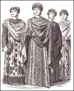 Byzantine Dress of Empress Theodora in 547AD
