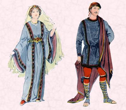 A Frankish Lady and a Frankish Nobleman
