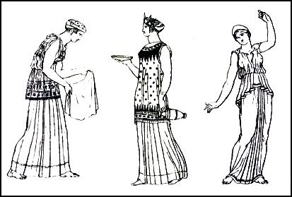 Greek Dress - Grecian Ladies