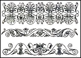 Ancient Greek Scroll Patterns