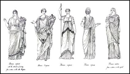 Roman Fashion on Roman Costume History   Roman Women   Hairstyles And Dress   The Stola