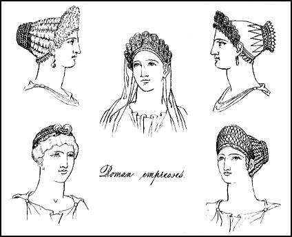 Roman Empresses and their hair styles and head-dresses