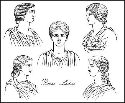 Swell Roman Costume History Roman Women Hairstyles And Dress The Stola Short Hairstyles Gunalazisus