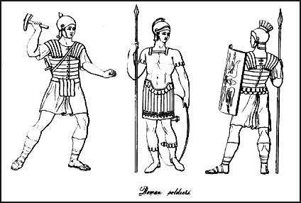 Roman soldiers wearing the Roman Cuirass