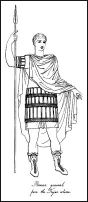 The Roman General with spear and from the Trojan column.