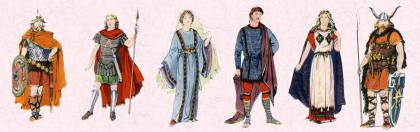 Costume History - Saxon and Frankish fashion era 500 to 599 AD.