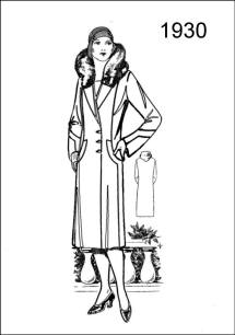 Figure L2503 outlines a stylish long coat with fur collar.