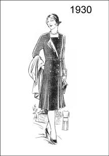 1930 - A useful coat and skirt are sketched on Figure L2506.