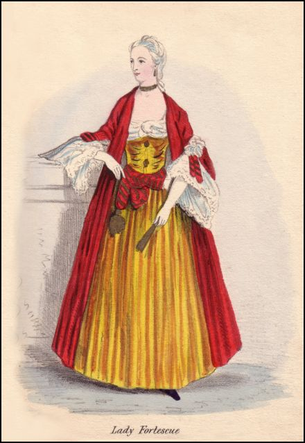This Onwhyn costume is based on Georgian Lady Fortescue.