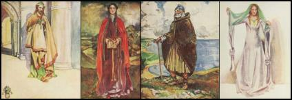 Cloaks in English Costume Plates - Dion Clayton Calthrop
