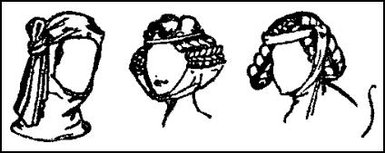 Hair Fashions - Wimple, Caul & Dorelet