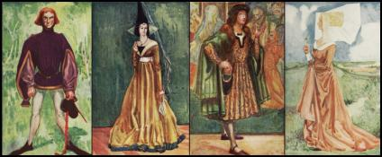 Medieval Hennin -English Costume Plates - Dion