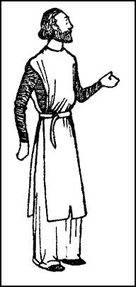 Costume 1300 - Man Wearing Short Surcoat