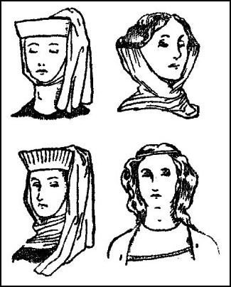 Pictures Of Early Medieval Womens Hair Headdresses 1066 1327