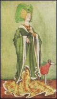 1422-1461 - WOMAN IN GREEN DRESS OF THE TIME OF HENRY VI