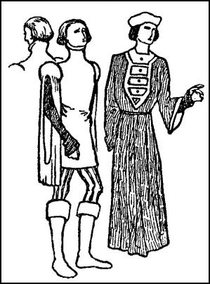 Mid 15th Century Male Dress - Medieval Costumes