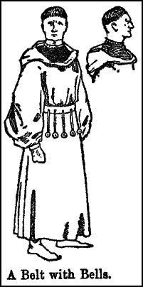 Mean wearing gown with belt with bells -1413AD.