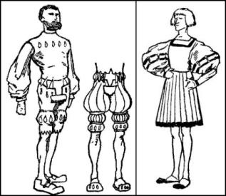 German Blistered Fashion Clothing - Henry VIII 1509-1547