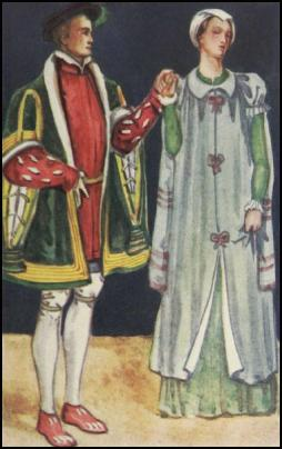 A MAN AND WOMAN OF THE TIME OF EDWARD VI - 1547-1553