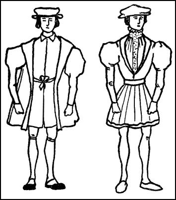 Beefeater Fashion - Male Coats, Doublets & Caps - EDWARD VI - 1547-1553