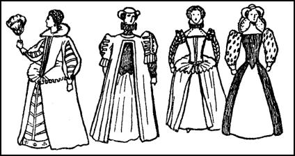 Typical Costume For Early Elizabethan Lady