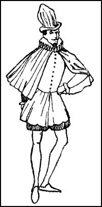 Short Spanish Cloak - Male Fashion For Tudor Ruffs