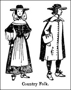 Costume of Late C17th Country Folk