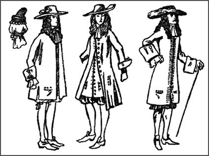 1685 - Mens Long Coats - James II