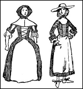 Colouring-in - Country Women Dresses Late C17th