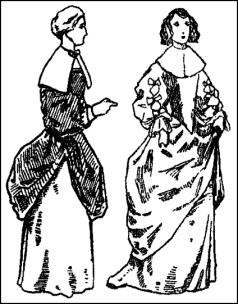 Ladies Gowns Mid C17th