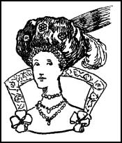 Jacobean Woman's Hair & High Back Collar