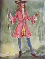 Man - Red Frock Coat - 1702-1714