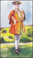 Georgian Gentleman Wearing Embroidered Coat 1714-1727