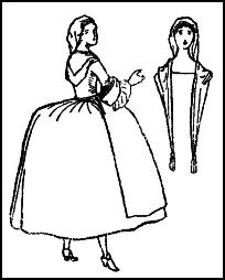 C18th Hooped Skirt - Gown - Apron