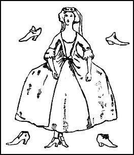 Colouring-in Lady C18th Sack Dress