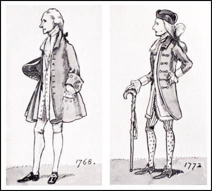 MEN OF THE TIME OF GEORGE III - 1768 + 1772