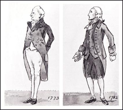 MEN'S COAT DRAWINGS 1773-1782.