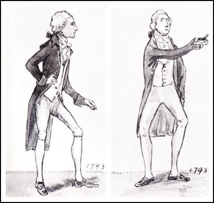 MEN'S COAT DRAWINGS 1793.