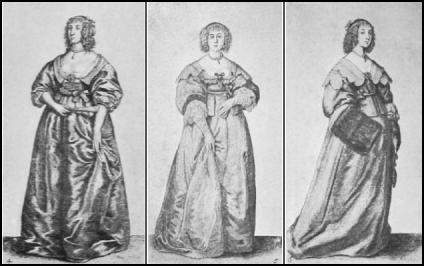 Hollar  Engravings - Fashions of the 17th Century
