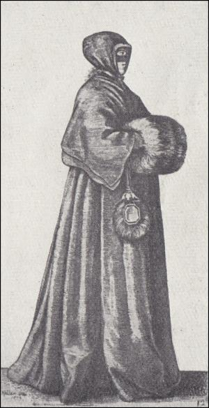 Image 12 - 1639 - Lady With Cap, Mask And Muff