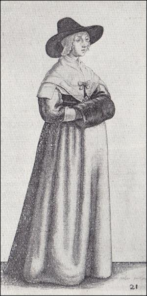 1640 - Lady with wide brimmed hat and dark muff