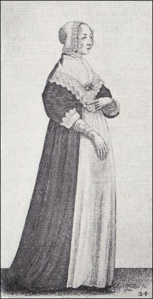 1640 - Lady with a high neck wrap
