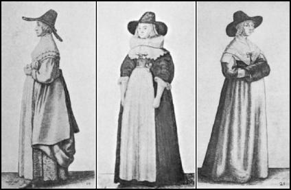 Hollar 17th Century Hat Costume Drawings