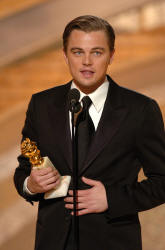Picture of Leonardo DiCaprio accepting an Oscar at the 62nd Golden Globe Awards © HFPA