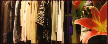 Fall/Winter 2008/9 designer fashions lined up at the exclsuive Lynn Craig fashion boutique.