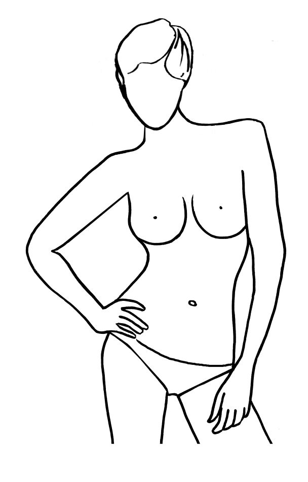 Drawing Female Outlines Female Drawing Outline