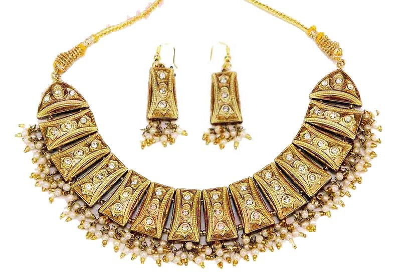 Indian Lac Costume Jewellery Enamel Fashion Necklaces Pictures 2