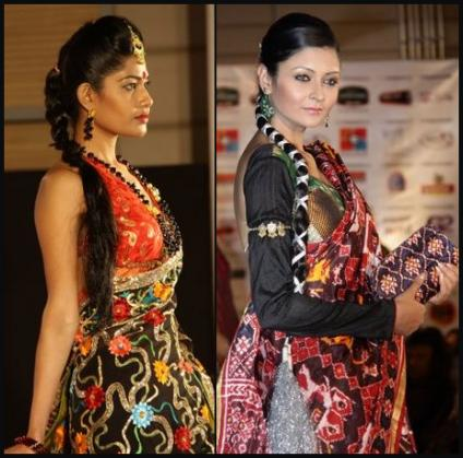 Richly Patterned Indian Fashion