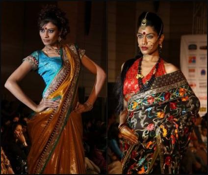 Rich Patterns of  Indian Saris