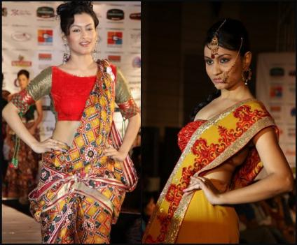 Vibrant Red and Gold Indian Saris